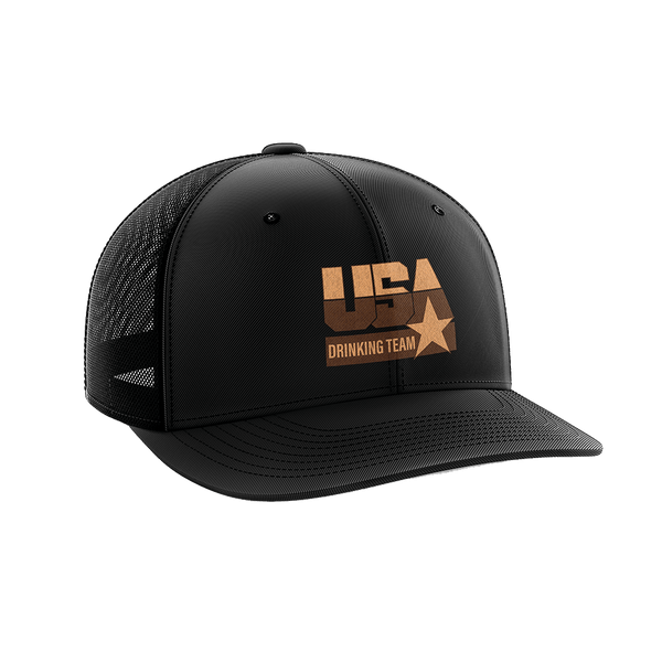 USA Drinking Team - Leather Patch Hat