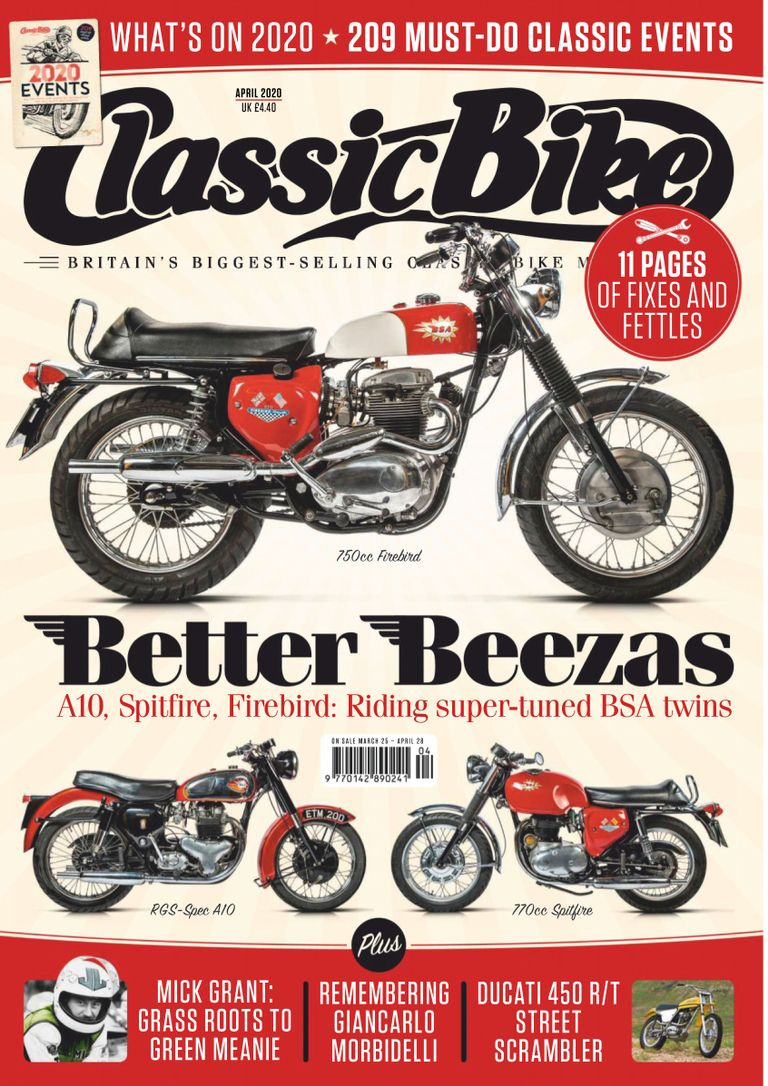 CB202004 Classic Bike Magazine April 2020  - latest issue