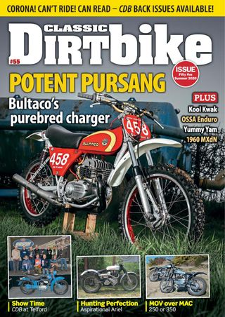 CDB202006 Classic Dirt Bike Magazine Summer 2020 - latest issue