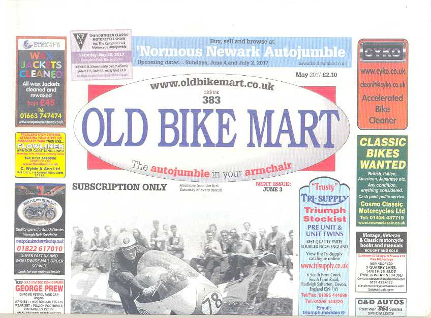Old Bike Mart Subscription - 1 year/12 issues – Motorsport Publications