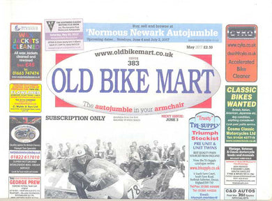 Old Bike Mart Subscription - 1 year/12 issues