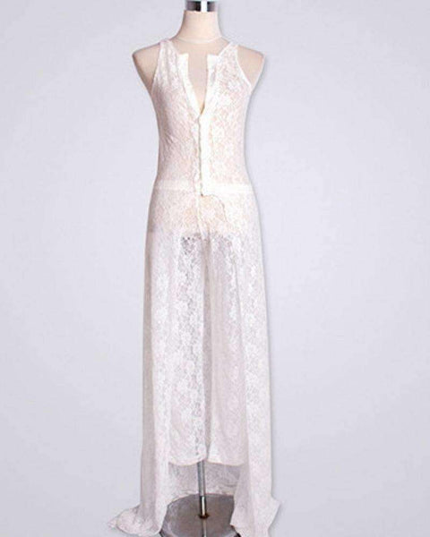 GGotta's Brazil White Lace Playsuit