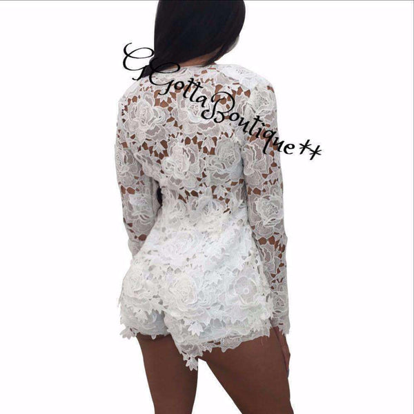 GGotta Kim Lace 2 piece shorts suits