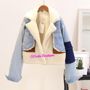 GGotta's Nauj'e Denim Woolen Coat