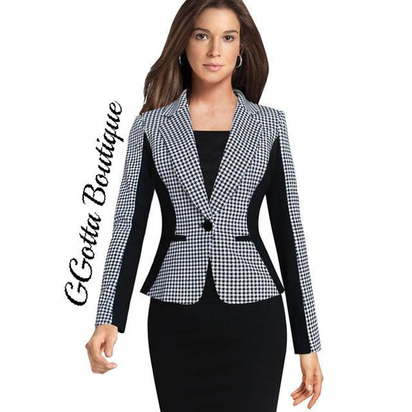 GGotta's Success Plaid Blazer**