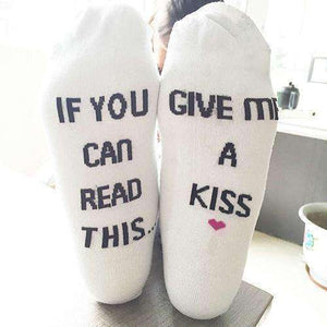 "Unisex Socks printed ""If You Can Read This Bring Me a Coffee"""