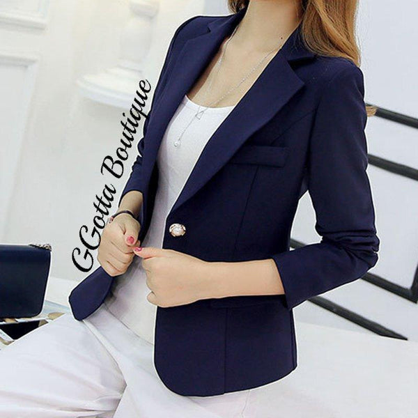 GGotta's One Success Blazer With embellished Button**
