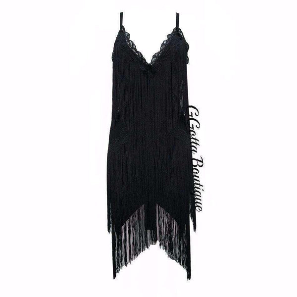 GGotta's  V Neck Tassel Dress