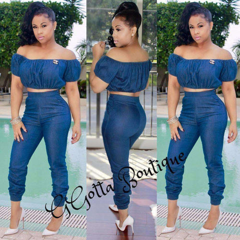GGotta's Nauje Lamik Two piece Denim Set