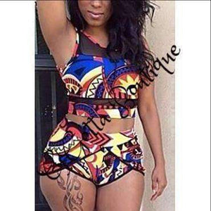 GGotta's two piece shorts set multi-colored