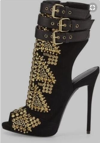 Darla Ray Gladiator Peep Toe Baddies