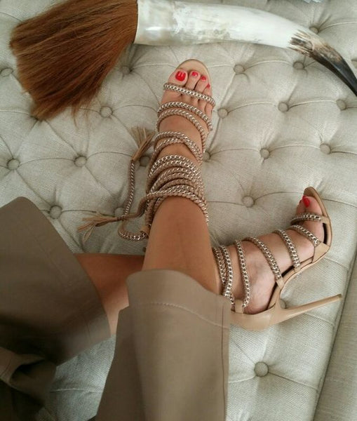 GGotta's Anna Strappy Stiletto High Heels**