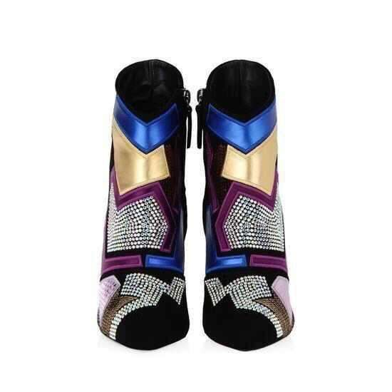 GGotta's Pointy Ankle Boots Beading High Heel Boots