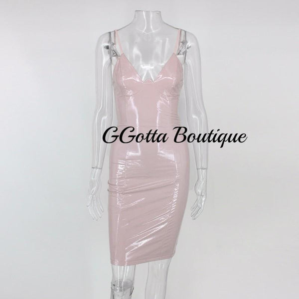 GGotta's Ali Bodycon Spaghetti Strap Dress**