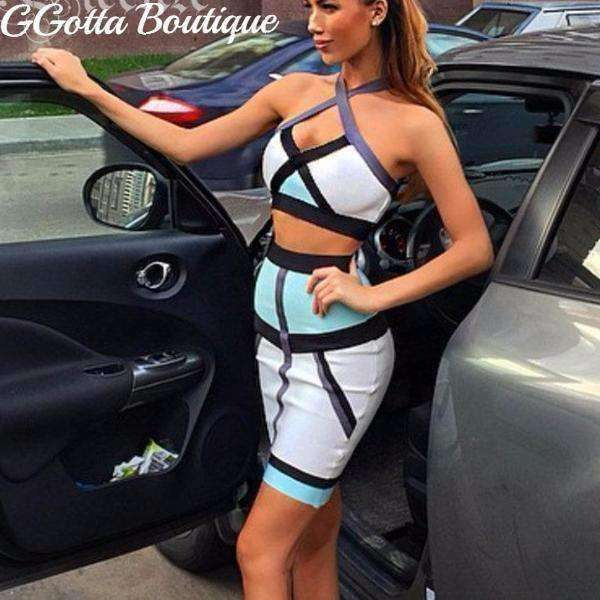 GGotta's Halter Two-piece Set NEW Bandage Dress