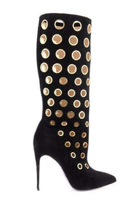 GGotta's Sexy Winter Women Knee High Boots polka dot holes