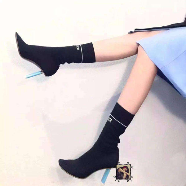 GGotta's New Design High Heels Elastic Sock Ankle Boots