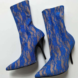 GGotta's Newest Sexy Lace Cut-Outs Stretch Over The Knee Boots