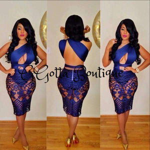 GGotta's Blue Bodycon Dress