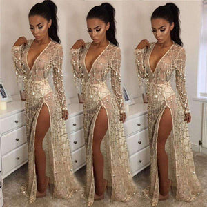 GGotta's Bohemian Gold Party Dress
