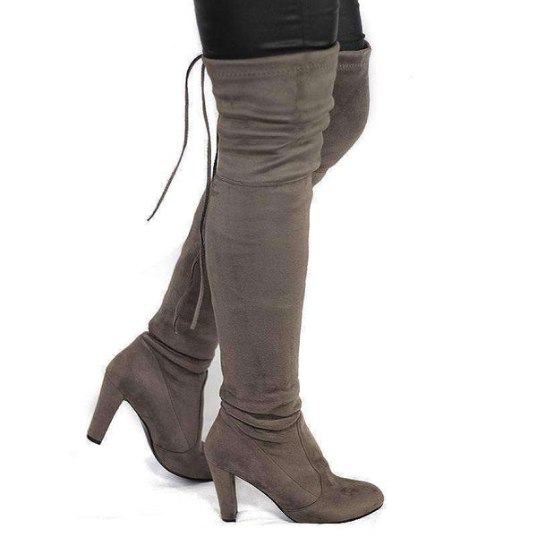 GGotta's  Suede Thigh High Boots Fashion Over the Knee Boots