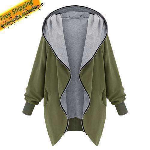 GGotta's Army Green Jacket Outerwear Women Bomber Jacket Trenchcoat Duster Coat