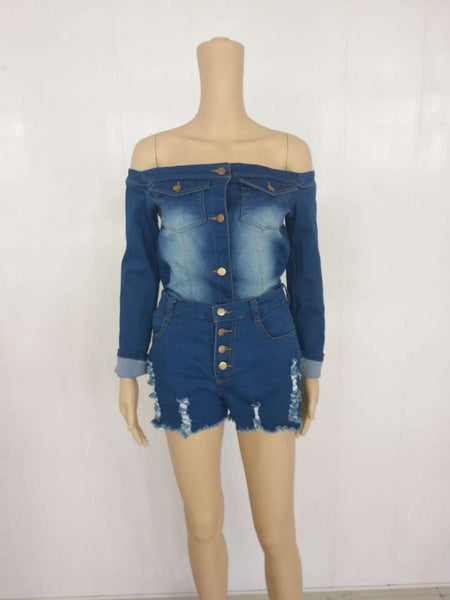 GGotta's yesha denim two piece set