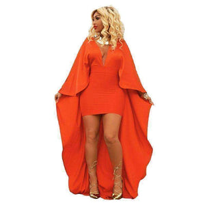 GGotta's bandage dress women cloak sleeve mini dress