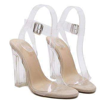 GGotta's Sexy Clear Transparent Ankle Strap High Heels 12cm