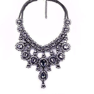 GGotta BoutiqueTassel Style Crystal Rhinestone Beads Luxury Collar Choker Necklace&Pendant