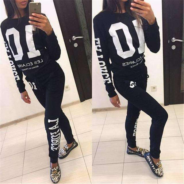 GGotta's causal wear jogger long sleeve 2 pc set