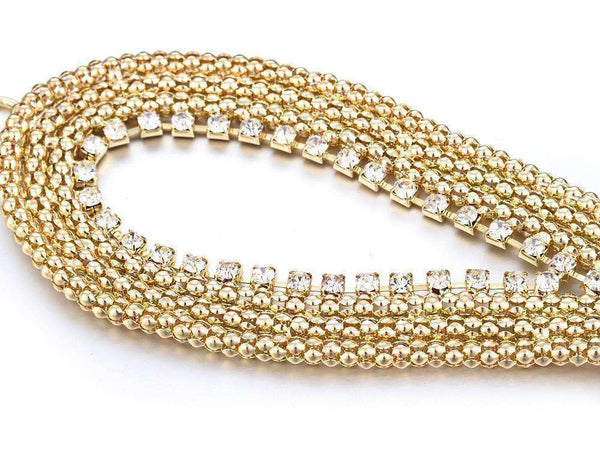 GGotta's 110cm Metal braided diamond waist chain belt
