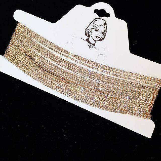 GGotta Boutique Luxury Rhinestone Choker Crystal Maxi  Chokers