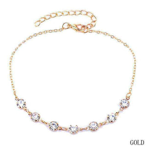 GGotta's Crystal Anklet Chain Bracelet Foot Jewelry