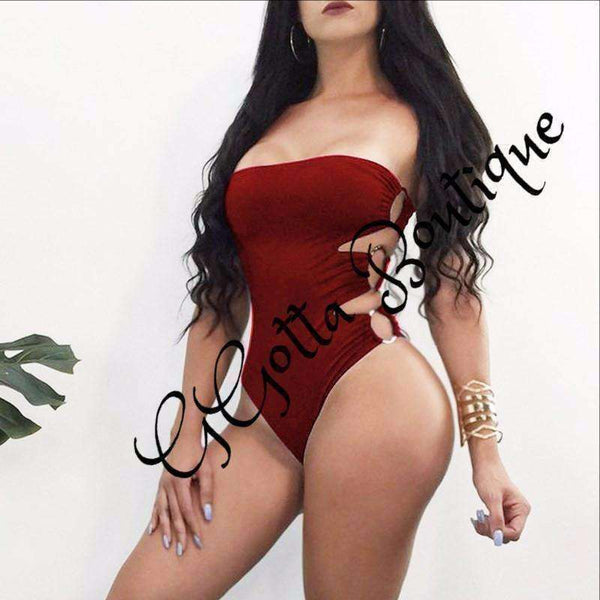 GGotta Ciara bodysuit Solid Women Hollow Up Bodycon Casual Jumpsuits Female