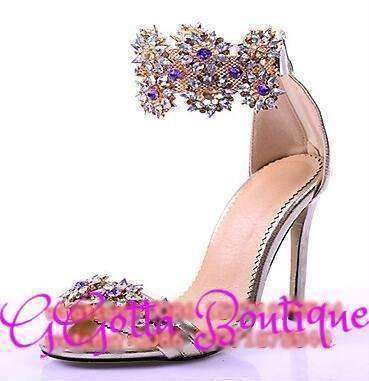 GGotta's Diamond Incrusted High Heel Sandals