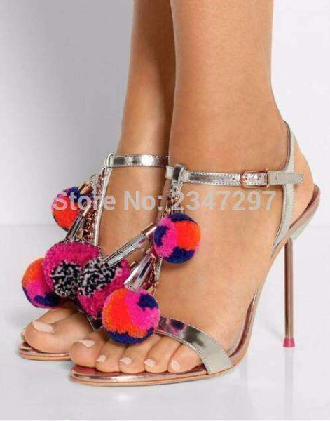 GGotta Boutique Fashion Novelty Stiletto Heel Women Sandals Hollow Out Tassel