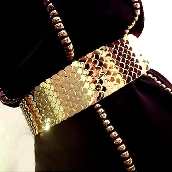 GGotta's Europen fashion female gold fish scale belt