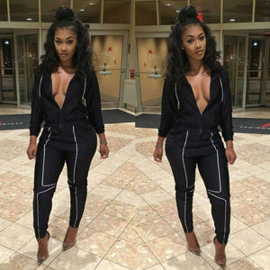 GGotta's full sleeve long rompers women sets ladies casual sweat suit