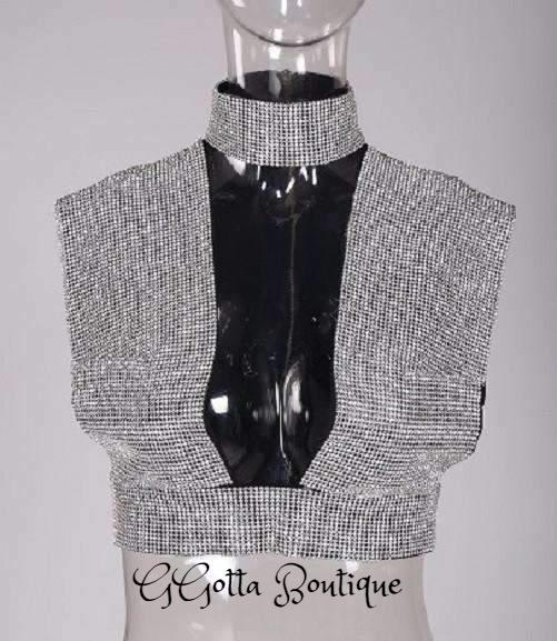 GGotta's Akliah Crystal Studded Top*