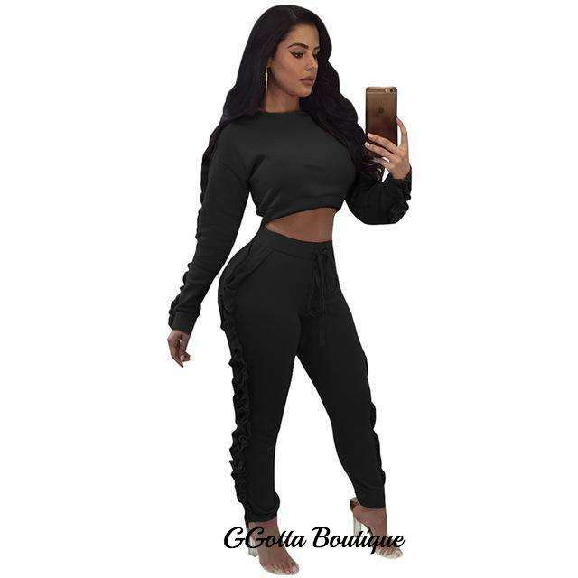 Two Piece Pants Set Club wear