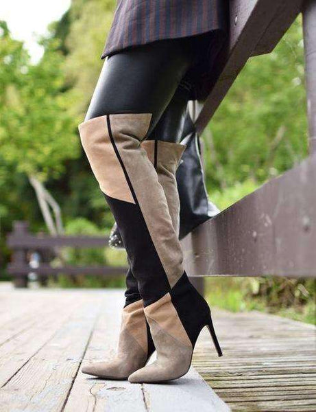 GGotta's Bou'je Two Tone Stiletto Boots