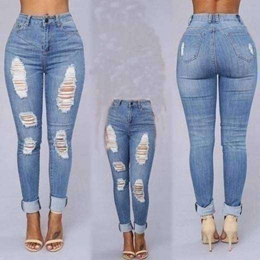 High Waisted Jeans Bodycon Denim Stretch Jeans