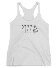 PIZZA: White Ladies Tank Top
