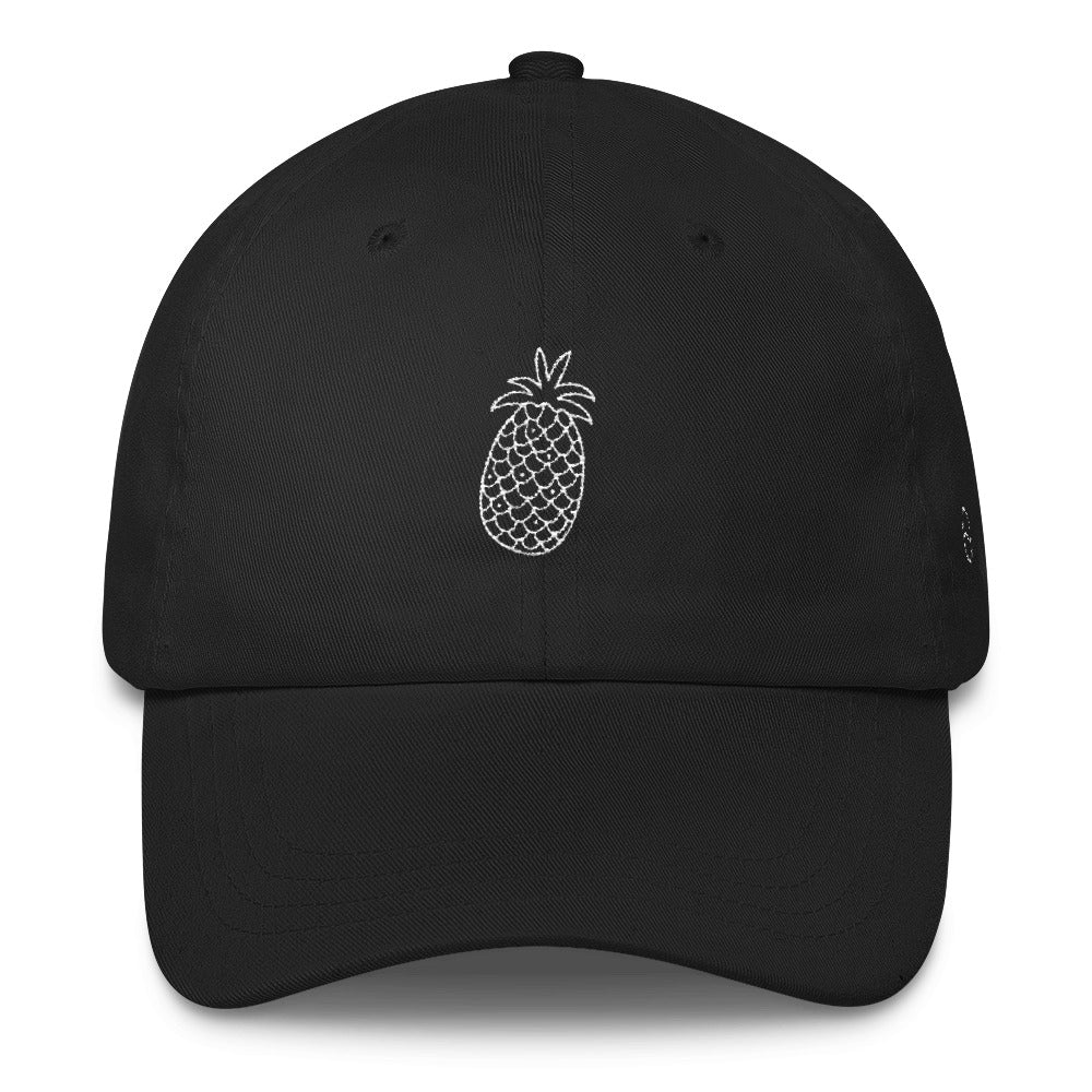 Pineapple: Classic Dad Cap Hat Black