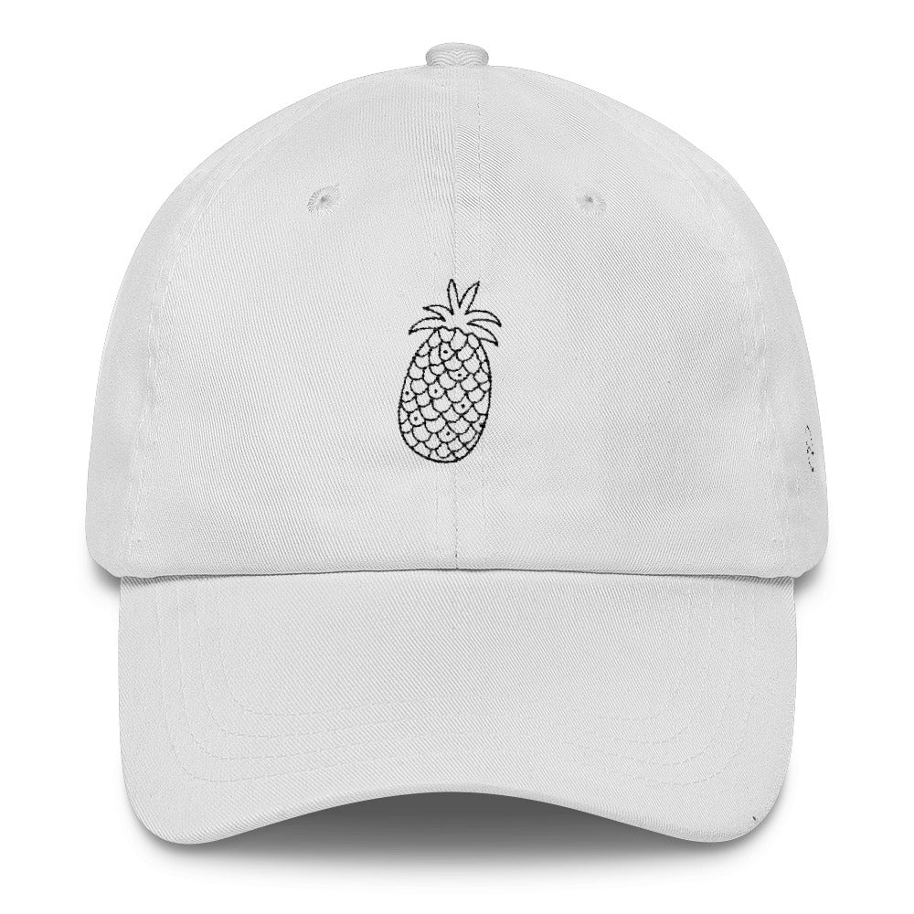 Pineapple: Classic Dad Cap Hat White