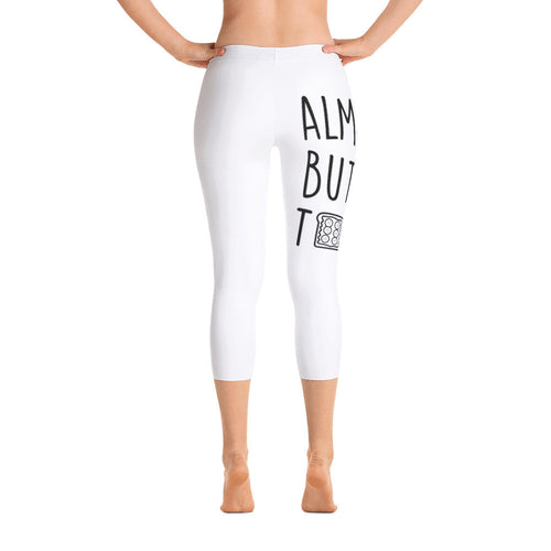 Almond Butter Toast: White Ladies Capri Tight Leggings