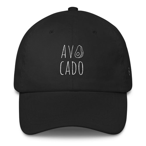 Avocado: Classic Dad Cap Hat Black
