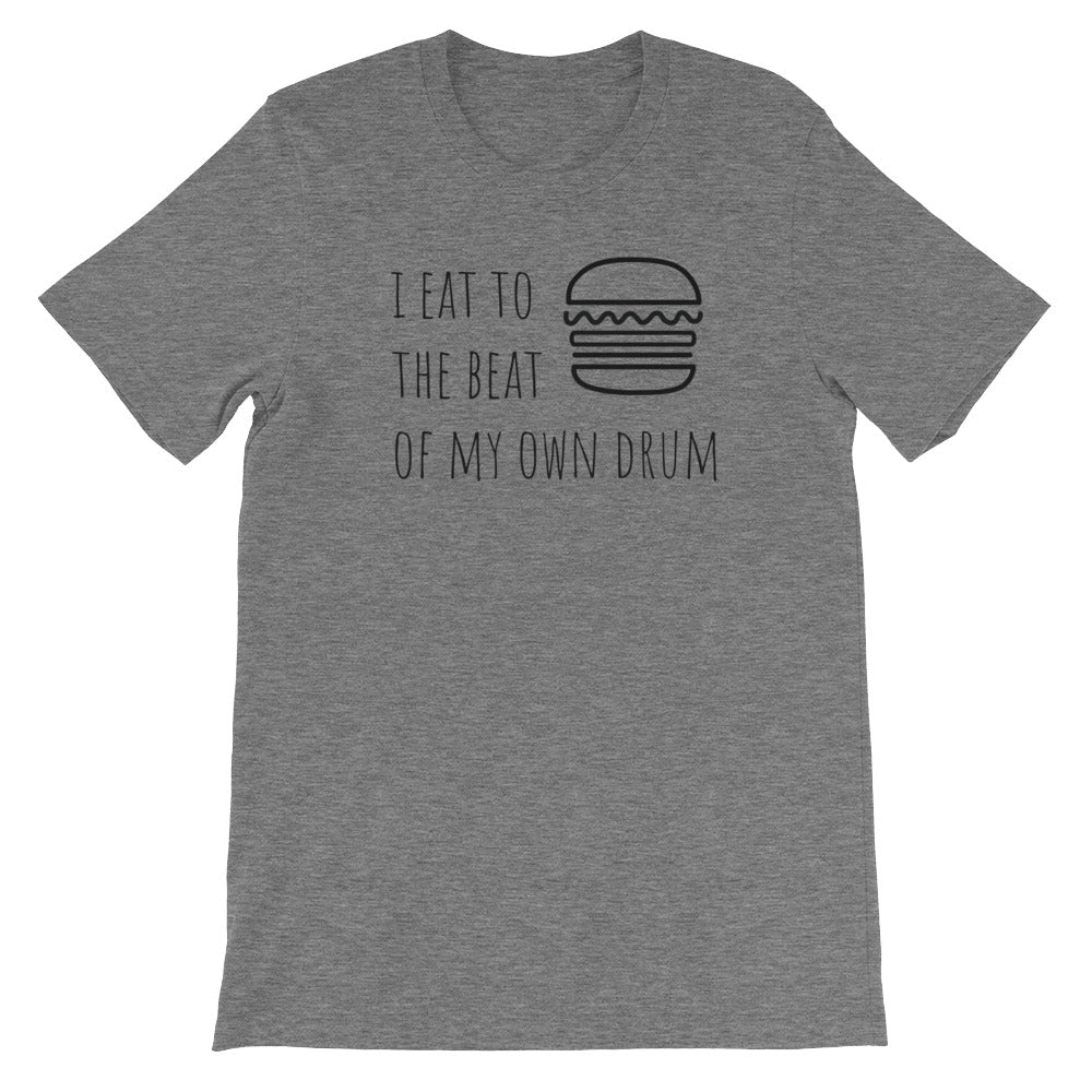 I Eat To The Beat of My Own Drum: Burger Deep Heather Grey Men's T-Shirt