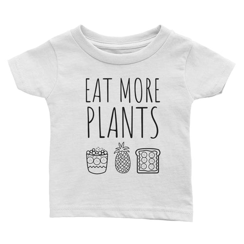Eat More Plants Pineapple Peanut Butter - Kids Infant Tee White